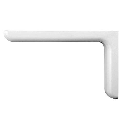home depot shelf brackets everbilt 7 1 in x 4 5 in white designer shelf bracket eb