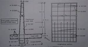 Cantilever retaining wall reinforcement detailing