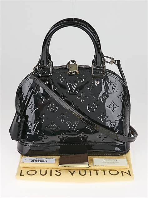 louis vuitton black magnetique monogram vernis alma bb bag yoogis closet