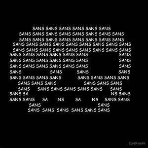 """Sans the Skeleton Text Art"" by ColeKimchi Redbubble"
