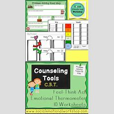 Cognitive Behavioral Pack With Cbt Worksheets And Feelings Thermometers  Cognitive Behavioral