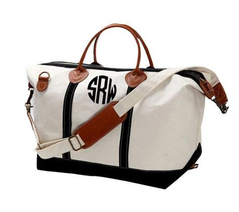 monogram canvas weekender bag large great gift
