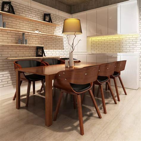 cuisine tcheque la boutique en ligne lot de 6 chaises à accoudoirs salle à manger brun vidaxl fr