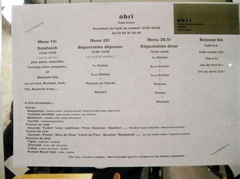 abris cuisine cing restaurant japonais l abri 10e une adresse