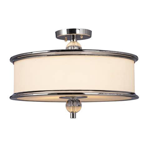flush mount shop light shop galaxy hilton 18 in w chrome semi flush mount light