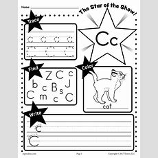Free Letter C Worksheet Tracing, Coloring, Writing & More! Supplyme