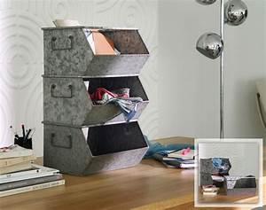 Casier Metal Empilable : casiers de rangement lot de 3 becquet ~ Teatrodelosmanantiales.com Idées de Décoration