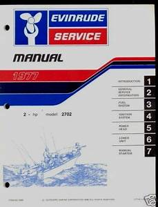 1977 Evinrude Outboard 2 Hp Service Manual