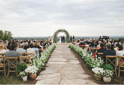 Bohemian Black-tie Texas Ranch Wedding Ceremony // By The