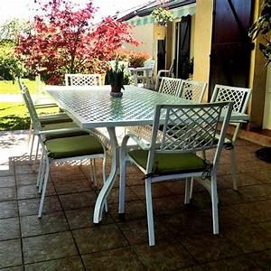 Gartenmöbel Set 8 Personen : wei es aluminium gartenm bel set madison 8 sitzer 260x120cm rechteckig ~ Orissabook.com Haus und Dekorationen
