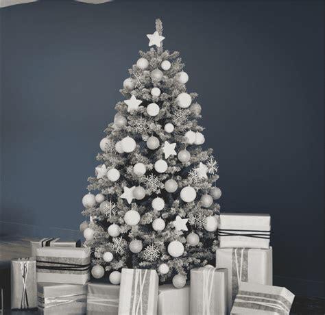 deco sapin blanc argent deco table noel argent et blanc maison design bahbe