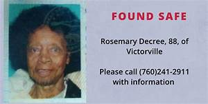Missing elderly woman, 88, found safe in Victorville ...