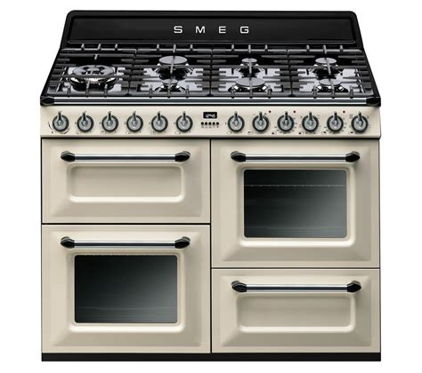 smeg gas range cooker buy smeg tr4110p1 dual fuel range cooker black