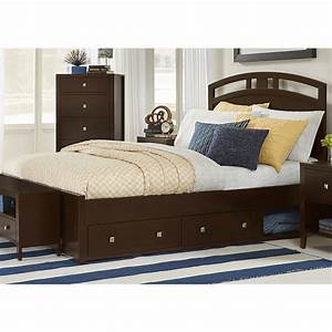 Hillsdale, Kids, -, Pulse, Queen, Arch, Bed, With, Storage-, Chocolate