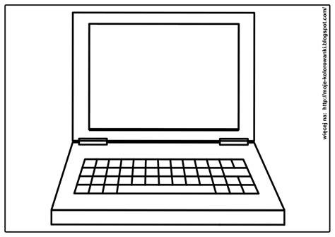 Pobierz szablony kolorowanek na swój komputer. Kolorowanki dla dzieci: Laptop