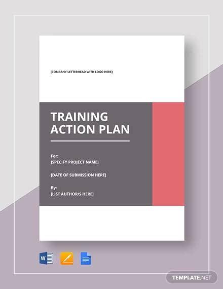 training plan samples templates word