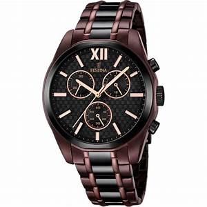 montre festina elegance f16859 1 montre marron acier With robe fourreau combiné avec bracelet montre black oak