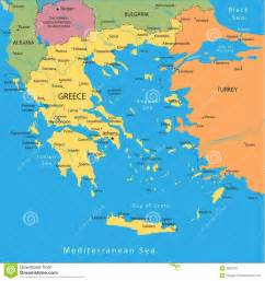 Greece Map with Cities
