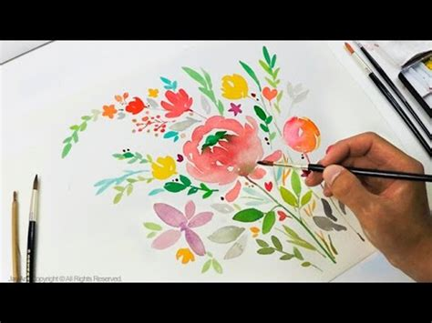 diy greeting card watercolor painting level  youtube
