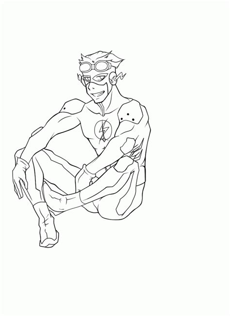 flash running coloring pages coloring home