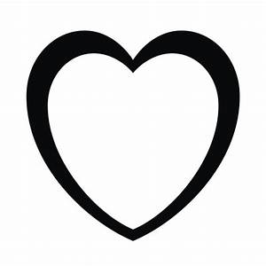 Black Heart Outline - ClipArt Best