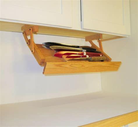 cabinet knife rack  ultimate kitchen storage handmade  america ebay