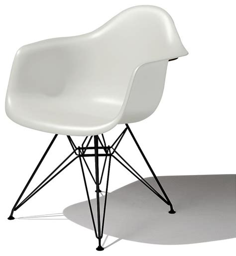 eames molded plastic armchair eiffel base modern