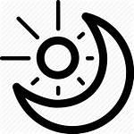 Moon Sun Icon Night Cloudy Icons Symbol