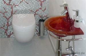 wc auf pinterest beton badezimmer fliesen und - Fantastisch Glasmosaik Fliesen Braunbeigegste Wc