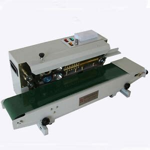 automatic horizontal continuous plastic bag band sealer sealing machine fr  ebay