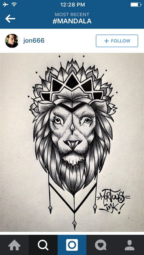 lion mandala tattoos pinterest tatouage tatouage