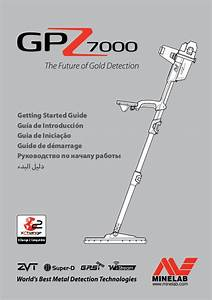 Instruction Manual  Getting Started Guide Minelab Gpz 7000