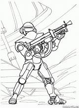 Coloring Spaceguard Costume Pages Futuristic Print sketch template