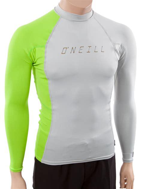 oneill mens long sleeve rashguard lycra swim shirt