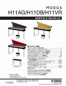Yamaha Modus H11 H11ag H11db H11vr Digital Piano Service