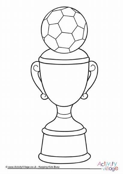 Trophy Colouring Coloring Pages Soccer Football Colour