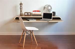 Schreibtisch An Der Wand : minimal float wall desk luxify ~ Markanthonyermac.com Haus und Dekorationen