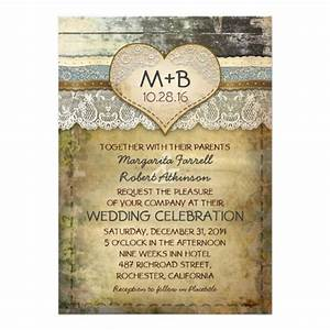 Country rustic wedding invitations 5quot x 7quot invitation card for Free wedding invitation samples zazzle