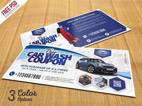Car Wash Coupon Template car wash coupon template psd set psdfreebies