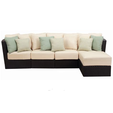 patio set with ottoman shop foremost casual 5 piece tremblay aluminum cushioned