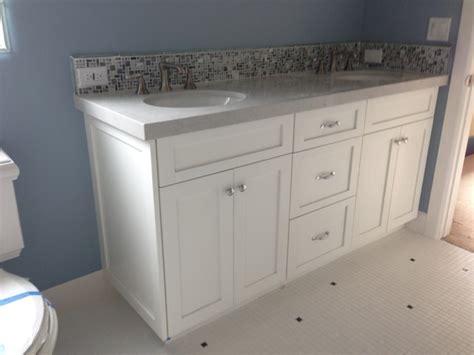 bathroom vanity shaker white beach style bathroom los angeles  dream woodwork