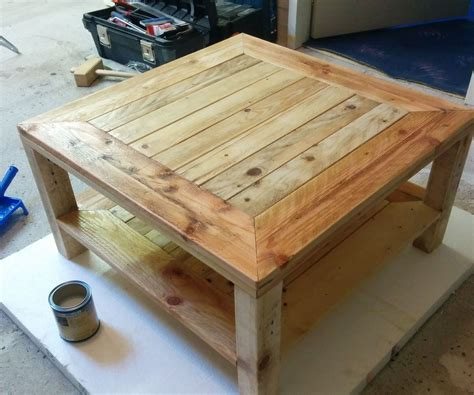 pallet table update  steps  pictures