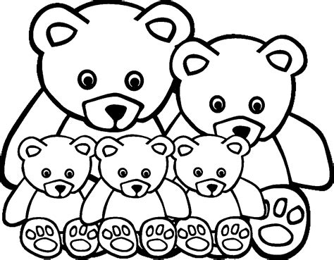 animal family coloring page coloring home