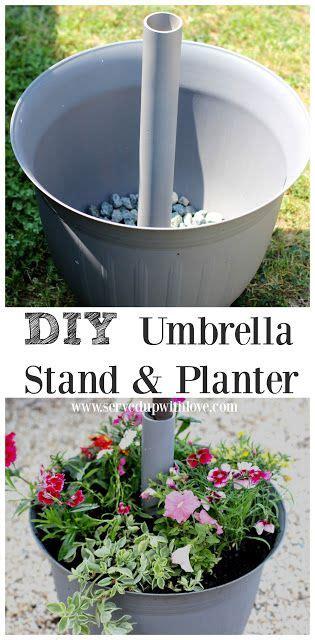 diy umbrella stand planter   patio umbrella
