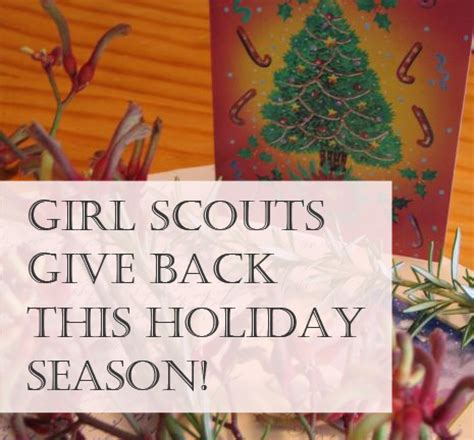 ideas  girl scouts  give   holiday season