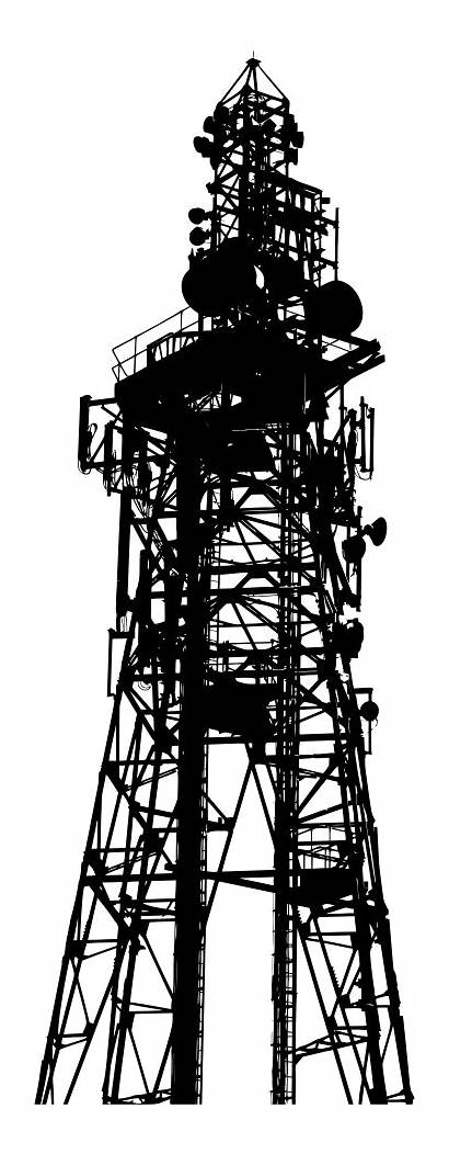 Tower Silhouette Communications Clip Clipart Wireless Telecommunications