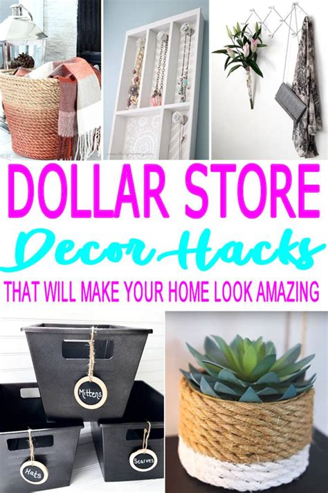 diy dollar store hacks home decor craft projects