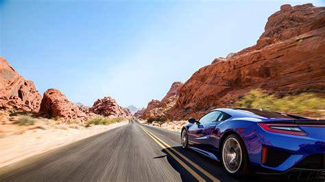 Car, Sports Car, Blue, Road, Desert, Acura Nsx Wallpapers
