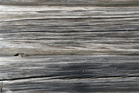 Grey Pine Log Wall