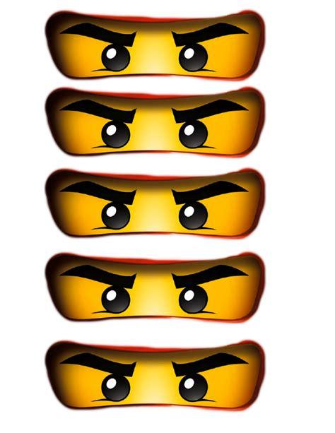 Im mittelpunkt der serie stehen die abenteuer der sechs ninjas, der meister des spinjitzu, kai, jay, zane, cole, nya und lloyd stehen. Ninjago Party Bag Eyes.pdf - Google Drive | Ninjago geburtstag, Ninja geburtstag, Lego-geburtstag